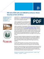 12-8 IRD Joins With LDS and UMCOR to Enhance Water Security in Horn of Africa