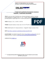 Export DC - February 3 2012 Event Flyer