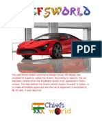 Indias First Super Car - DC Avanti