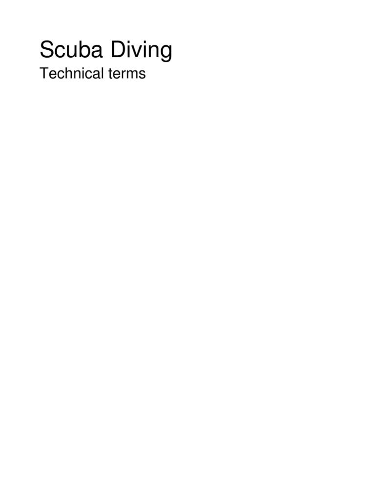 258b7c7e68f1 Scuba Diving - Technical Terms Mk II