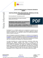 Escitalopram- prolongación del intervalo QT del electrocardiograma