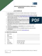 Formulir Rekomendasi Sekolah Bidikmisi 2011
