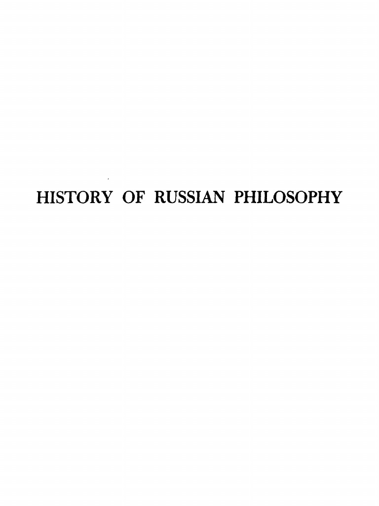 Thus Russian Philosophy