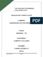 Formulas en Excel CARMEN ESTRELLA
