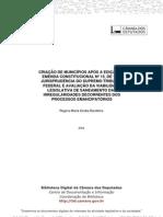 ARTIGO INTERESSANTE Criacao Municipios Bandeira
