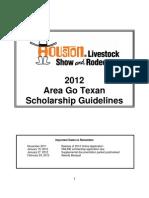 2012 Area Go Texan Rodeo Houston Scholarship Guidelines