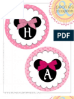 Peonies and Poppy Seeds Minnie Mouse Birthday Circle Banner