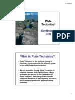 Jan 16 Plate Tectonics I [Compatibility Mode]
