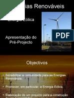 Apresentação Pré-projecto Energia Eólica