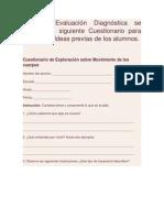 Cuestionario de Diagnostico