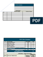 Effort Estimation Template - PERT