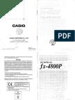 Manual Calculadora Fx-4800p