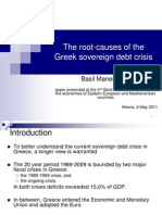 Root Cause of Greek Debt Crisis