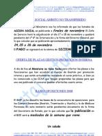 0HI 081111. Acción Social y Otros