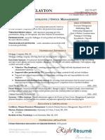 Sample Admin Resume