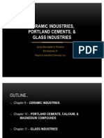 CERAMICS INDUSTRY, PORTLAND CEMENT, and GLASS INDUSTRIES