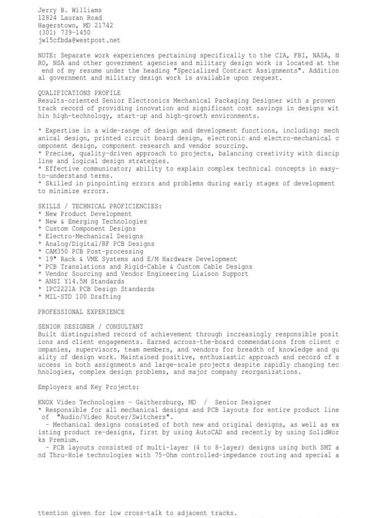 Mechanical Designer or PCB Designer or Electronics Packaging