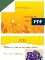 Live Project of Marketing Survey