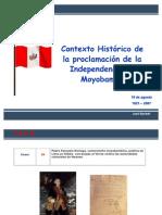 In Depend en CIA en Moyobamba Contexto Historico Jul 07