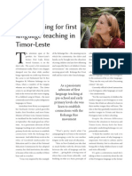 Campaigning for First Language Teaching (Mana Magazine, NZ)