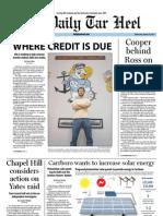 The Daily Tar Heel for January 18, 2012
