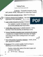 Virginia Tech April 16 - Talking Points (Part 1)