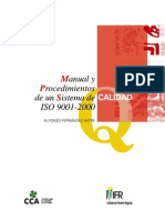Manual de y Procedimientos Calidad ( Iso 9001-2000)
