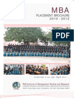 RVS IMSR Placement Brochure 2010-2012