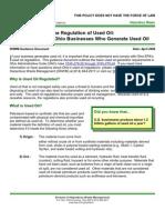 Used Oil Generators Guidance