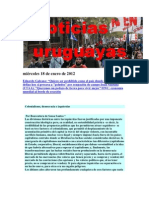 Noticias Uruguayas lunes 16 de enero de 2012