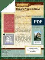 January 16 Honors Newsletter