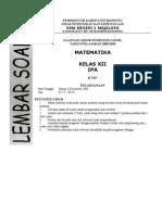 05b. Matematika XII IPA Soal UAS Ganjil 2009-2010