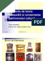 1D_Elemente de Teoria Restaurarii Si Conservarea Patrimoniului Cultural_structura