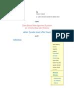 Data Base Management System
