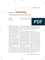 just in time hiring