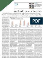 Mimar Al Empleado Pese a La Crisis