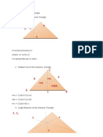 PARTS of the General Triangle