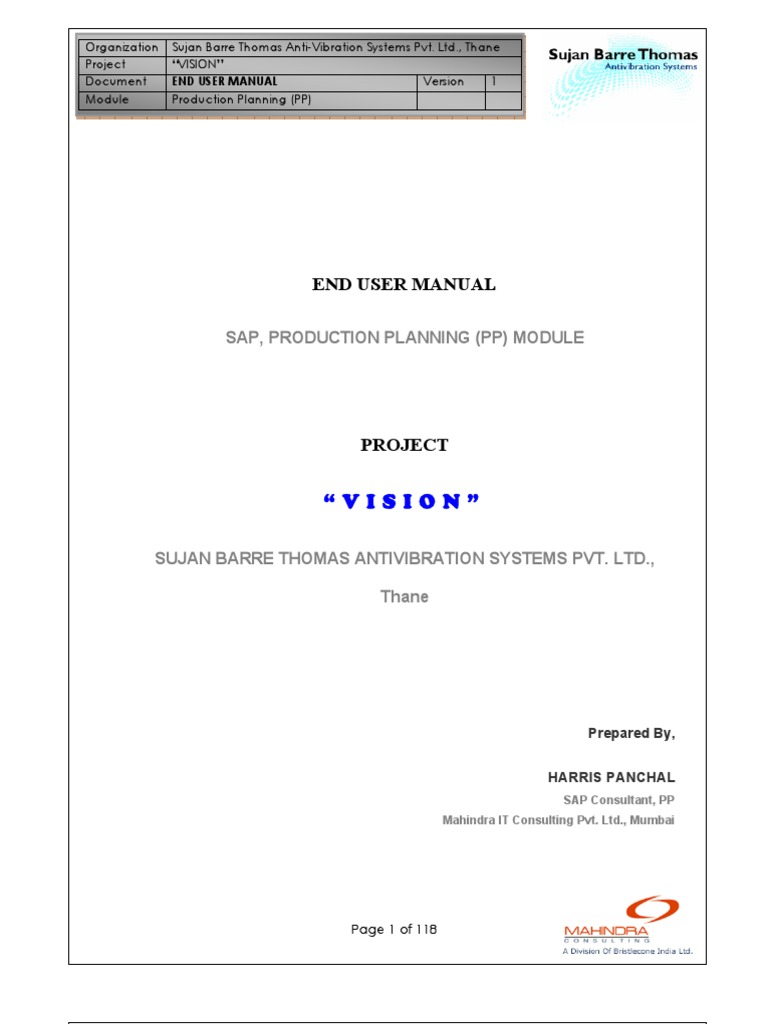 ste by step sap pp user manual production and manufacturing rh es scribd com sap pp end user manual sap pp pi user manual