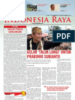 Tabloid Gema Indonesia Raya (Januari 2011)