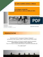 Andamento della mobilità ciclistica a Millano