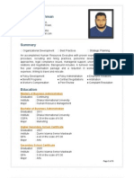 Resume of Anaitur Rahman