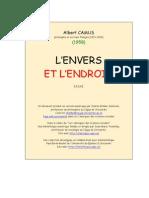 Camus - L'Envers Et L'Endroit