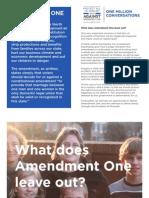 1,000,000 Conversations to Defeat Amendment One