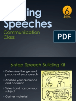 Building Speeches (6 Steps)
