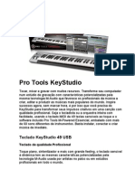 Descritivo Pro Tools KeyStudio