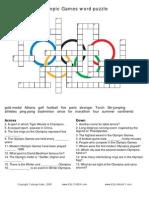 Olympic Crosswords