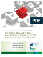 Strategic Default in the Context of a Social Network