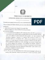Ordinanza Francesco Schettino - Costa Concordia