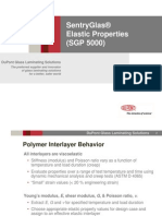 SentryGlas Elastic Properties