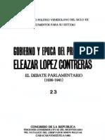 Tomo 23. Gobierno y época del presidente Eleazar López Contreras